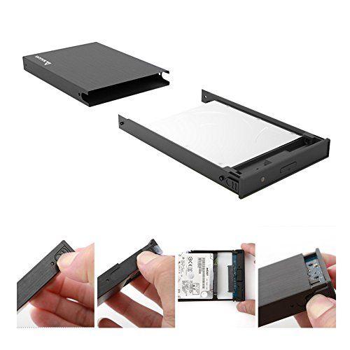 photo Wallpaper of Salcar-Salcar Aluminium 2,5 Zoll Externes Festplattengehäuse Für 9.5mm 7mm 2.5 Zoll HDD SSD-Schwarz