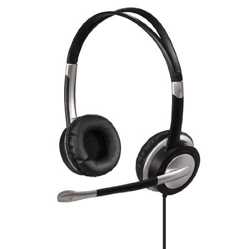 photo Wallpaper of Hama-Hama HS 35 PC Headset-Silber, Schwarz