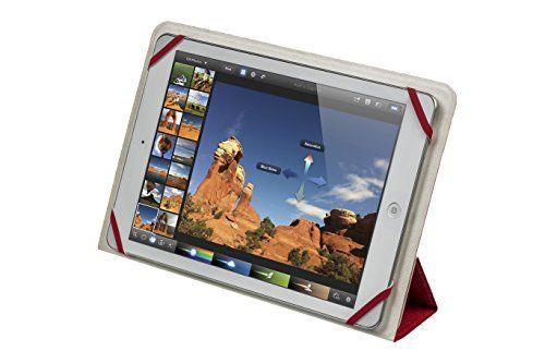 """photo Wallpaper of RivaCase®-RivaCase® Tablet Case Bis 10.1"""" – Sehr Flache Hülle Mit Zwei Farbigen Wendecover Und-Weiß/Rot"""