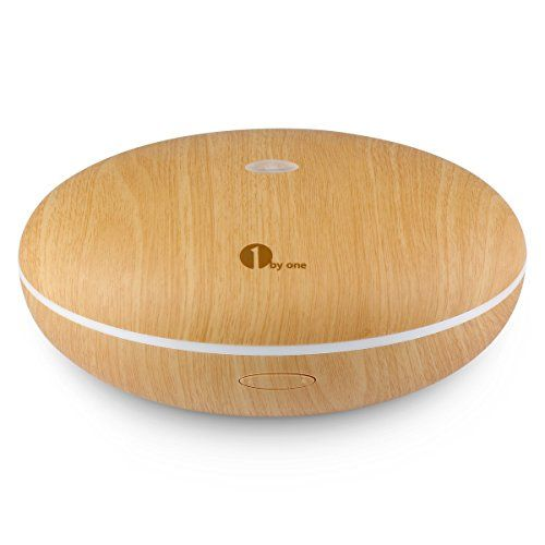 photo Wallpaper of 1Byone-1byone Difusor De Aroma, Humidificador Ultrasónico Con Luz LED De Colores, Aumenta La-Grano de Madera