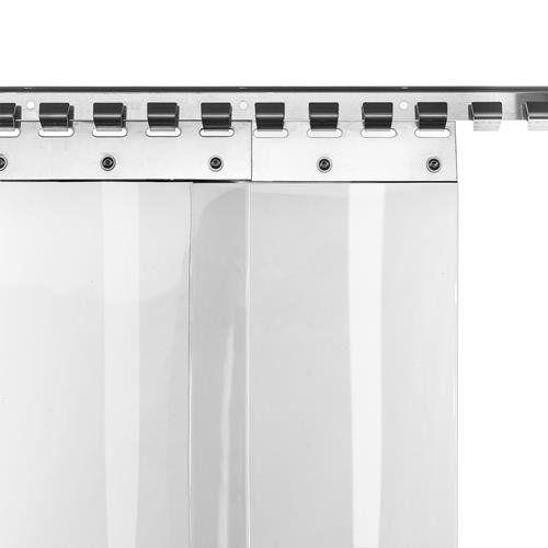 photo Wallpaper of Zill Gmbh-PVC Lamellenvorhang Streifenvorhang Lamellen 20cm Br 1,25m Br. 2,40m H.-Breite: 1,25m (8 Streifen), Höhe: 2,40m