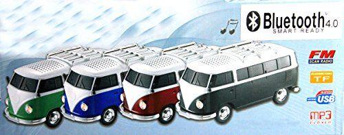 photo Wallpaper of -Nostalgie BULLY BOX In GRÜN| CAR Multimedia Spaeker | Bluetooth |Radio | MP3-grün