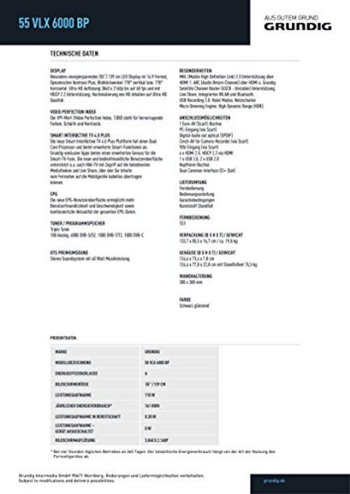 photo Wallpaper of Grundig-Grundig 55 VLX 6000 BP 139 Cm (55 Zoll) Fernseher (Ultra HD,-Schwarz