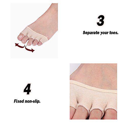 photo Wallpaper of REKYO-REKYO 10 Paar Baumwollsocken Toe Topper Für Frauen Peep Toe Socken Vorfuß Socken Deckel-Schwarze Haut
