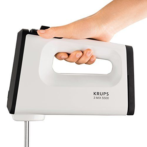 photo Wallpaper of Krups-Krups GN5021 Handmixer Mit Turbostufe (500 Watt, 3 Mix 5500, Tubo Quirle Und Spriral-Weiß