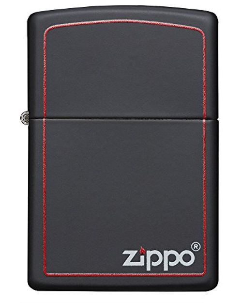 photo Wallpaper of Zippo-Zippo Logo 60001437   Mechero, Color Black Matte-Black Matte