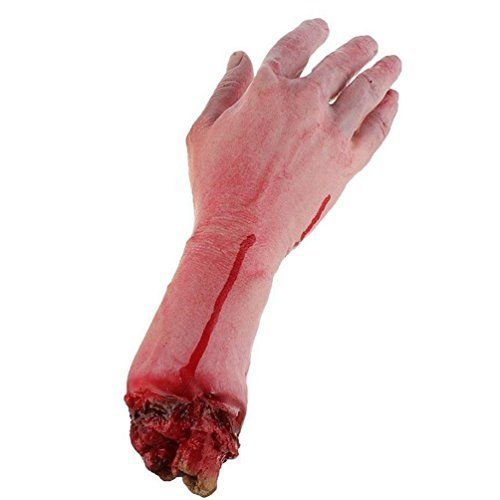 photo Wallpaper of BeautyLifeⓇ-BeautyLife & # X24C7; Realistische Latex Blutig Echthaar Arm Hand Life Größe Scary Bloody-