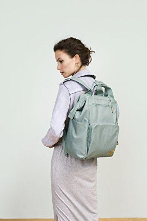 photo Wallpaper of Lässig-Lässig 1103010511Mochila Para Pañales Glam Goldie Backpack, Verde-verde