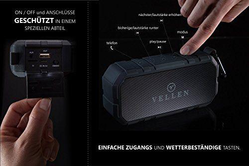 photo Wallpaper of VELLEN-VELLEN Ultralight Wasserdicht Bluetooth Lautsprecher 4.0 10W IP5   Gute Portable Outdoor-Schwarz