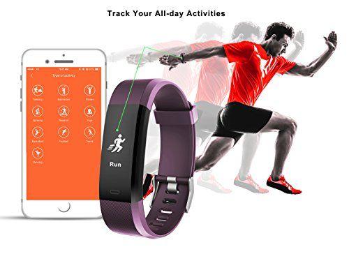 photo Wallpaper of Muzili-Fitness Tracker Muzili Sport Fitness Armband Laufen Wristband Fitness Band Schrittzähler Mit Herzfrequenz-Violett