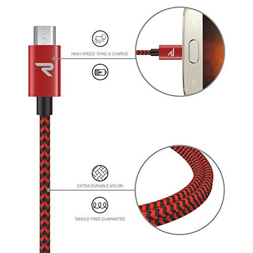 photo Wallpaper of Rampow-Micro USB Kabel [1M 2 Pack]   Rampow® 3A [ Micro USB Schnellladekabel-1M Rot (2-pack)
