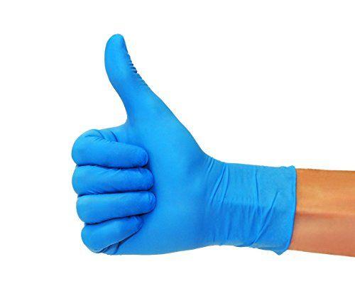 photo Wallpaper of SF Medical Products-Nitrilhandschuhe 200 Stück Box (L, Nitril Blau) Einweghandschuhe, Einmalhandschuhe, Untersuchungshandschuhe, Nitril Handschuhe, Puderfrei, Ohne-Blau