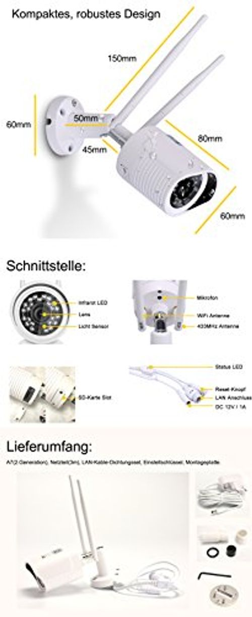 photo Wallpaper of HiKam-HiKam A7 Überwachungskamera Für Außenbereich Fehlalarmfrei Mit Personendetektion   Kostenlose Cloud Speicherung In Deutschland-