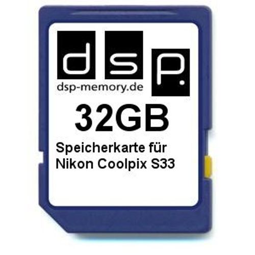 photo Wallpaper of DSP Memory-32GB Speicherkarte Für Nikon Coolpix S33-