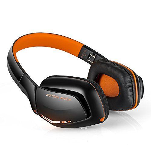 photo Wallpaper of Combaterwing-Bluetooth Headset V4.1, KOTION EACH B3506 NFC Stero Wireless Gaming Kopfhörer Mit Mic USB-Orange