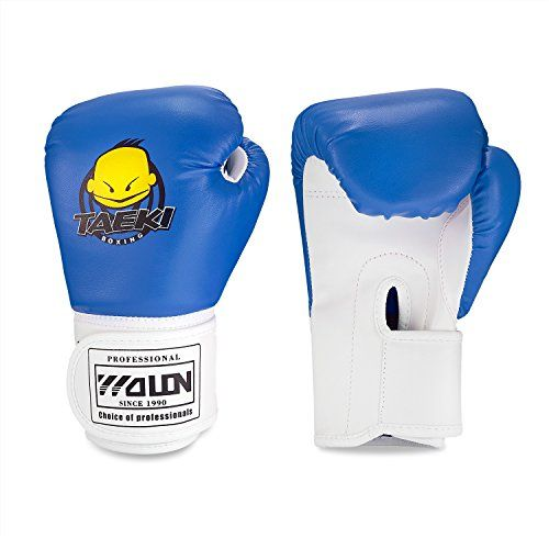 photo Wallpaper of SKL-Kinder Boxhandschuhe, Pu Kinder Kinder Cartoon Sparring Boxhandschuhe Training Alter 5 12-Blau