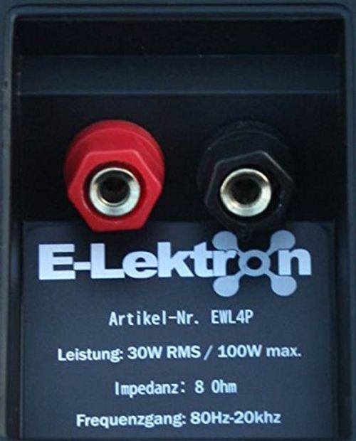 photo Wallpaper of E-Lektron-E Lektron EWL4P Stereo Passiv Lautsprecher Paar Inkl. Wandhalter Für Innen Und Außen-Schwarz