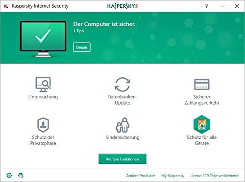 photo Wallpaper of Kaspersky Lab-Kaspersky Internet Security 2018 Standard | 3 Geräte | 1 Jahr |-