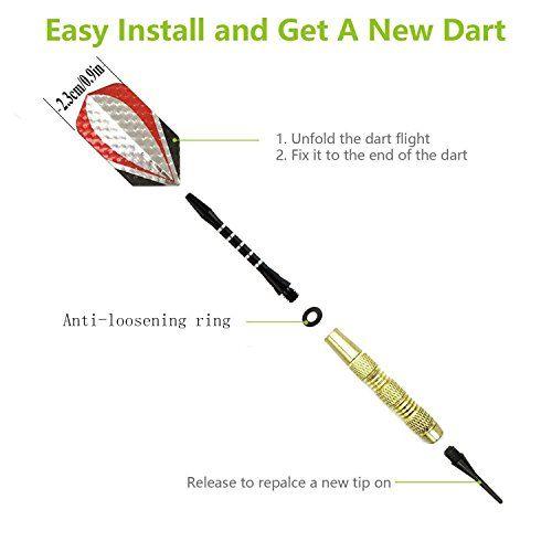 photo Wallpaper of Waalvis-Soft Dartpfeile   Kunststoff Darts Pfeile, Softdarts Set[18g]für Pro-Gold