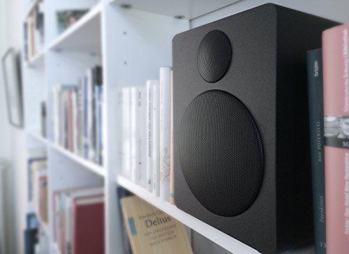 photo Wallpaper of Wavemaster-Wavemaster Cube Black Regal Lautsprecher System (50 Watt) Mit Bluetooth Streaming Aktiv Boxen-Schwarz