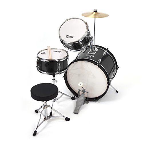 photo Wallpaper of RockJam-RockJam RJ 103B 3 Teile Junior Schlagzeug Satz Mit Crash Becken (Trommelstecken, Einstellbarer Thron,-Schwarz