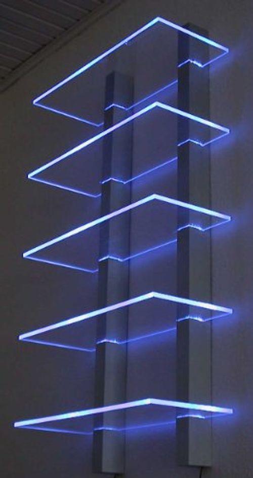 photo Wallpaper of LED-LIGHTNING- Design Regal LED Ideal Für CD´s Oder DVD`s-