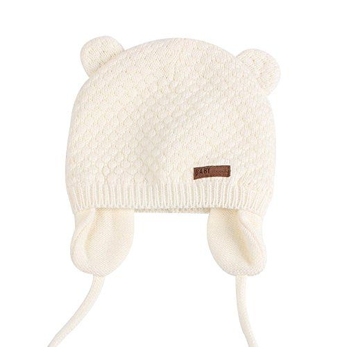 photo Wallpaper of JOYORUN-Unisex   Baby Mütze Beanie Strickmütze Unifarbe Wintermütze JOYORUN Weiß L-Weiß