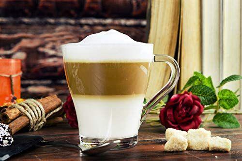 photo Wallpaper of Sendez-6 Cappuccinogläser Mit Henkel Und 6 Edelstahl Löffeln (gratis) Kaffeegläser Teegläser Cappuccino Latte Macchiato-