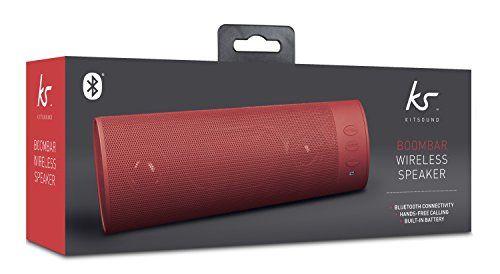 photo Wallpaper of KitSound-KitSound BoomBar Universal Tragbares Aufladbares Stereo Bluetooth Wireless Soundsystem Kompatibel Mit Apple IOS Und-Rot