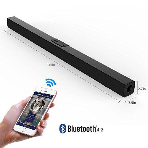photo Wallpaper of meidong-Soundbar Bluetooth Lautsprecher Meidong Mit Fernbedienung, 36 Zoll 2.0 Kanal Heimkino-Black