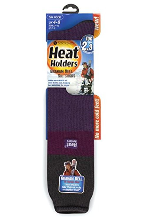 photo Wallpaper of Heat Holders-1 Paar Damen Original Thermisch Wärmehalter Ski Socken 4 8 Uk, 37 42 EUR,-Kohle / Fuchsia / Lila