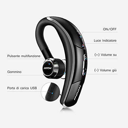 photo Wallpaper of Mpow-Mpow® Bluetooth Headset [Business Stil] Wireless Headset Bluetooth Ohrhörer Freisprechen Mit Clear Voice Capture-Black