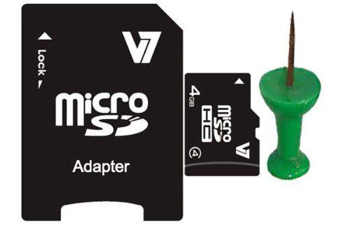 photos of V7 MicroSDHC 4GB Class 4 Speicherkarte Mit SD Adapter Und ISP, CPRM Und ECC Mobile Memory Für Notebook, Laptop, Tablet PC, Digital Kamera, Card Reader, MP3 Player Cyber Montag Kaufen   model Computer & Zubehör