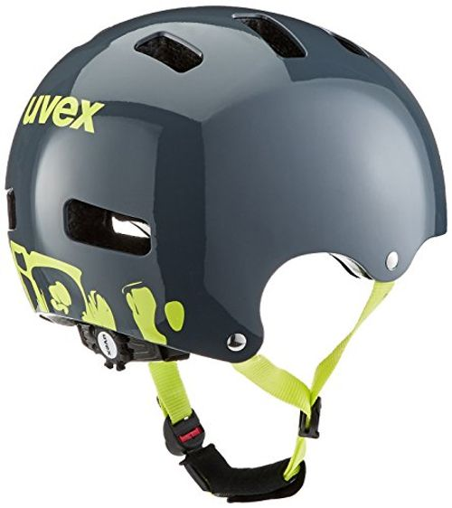 photo Wallpaper of Uvex-Uvex Kinder Fahrradhelm Kid 3-Grau (Dirtbike Gray-Lime)