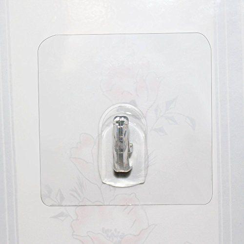 photo Wallpaper of Hawsam-Hawsam 4pcs Ohne Bohren Starke Transparente Klebrige Haken, Wasserdicht Klebstoffe Aufkleber, Keine Spur-