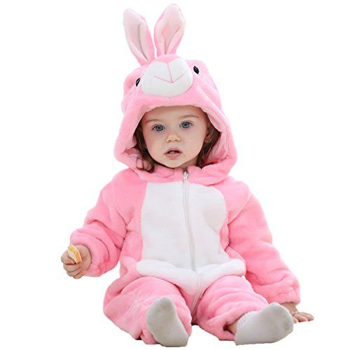 photo Wallpaper of MICHLEY-MICHLEY Baby Mädchen Und Junge Flanell Frühling Strampler Pyjama Kostüm Bekleidung Karikatur-Pink