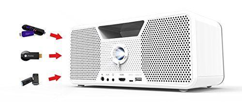 photo Wallpaper of Aiptek-Dashbon Flicks 140 Kabelloser Boombox HD Projektor (HDMI, Bluetooth, AUX, USB, 700 ANSI Lumen,-Weiß
