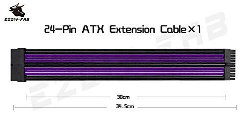 photo Wallpaper of EASYDIY-EASYDIY Sleeved Cable   Kabelverlängerung Für Stromversorgung Mit Combs 24-Purple&Black with combs