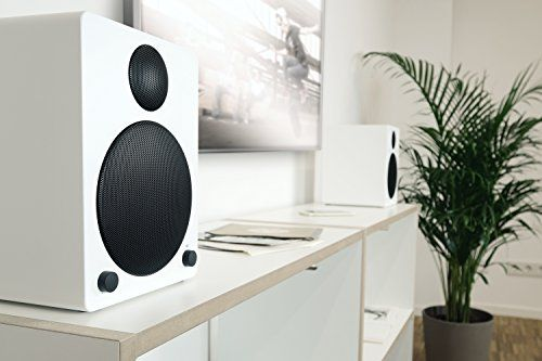photo Wallpaper of Wavemaster-Wavemaster Cube White Regal Lautsprecher System (50 Watt) Mit Bluetooth Streaming 2.0 Aktiv-