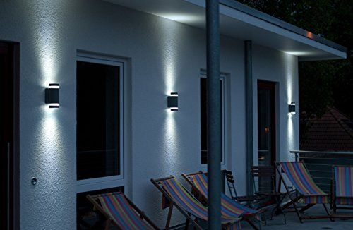 photo Wallpaper of Eco Light-Eco Light Moderne Außenwandleuchte Focus Up  Und Downlight, Fassung GU10,-Anthrazit