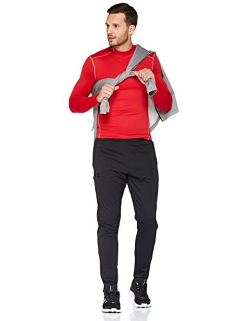 photo Wallpaper of Under Armour-Under Armour Herren UA CG Armour Mock Fitness Sweatshirts, Red/Steel, S-Red/Steel