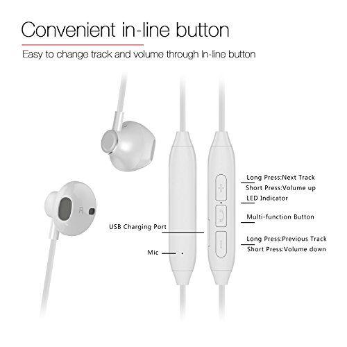 photo Wallpaper of Montech-Bluetooth Kopfhörer V4.1 In Ear Kopfhörer Bluetooth Stereo Headset Mit Magneten/Mic Wireless-weiß