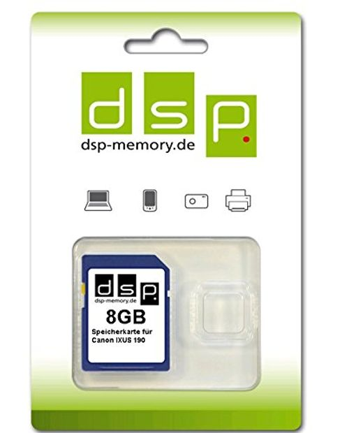 photo Wallpaper of DSP Memory-8GB Speicherkarte Für Canon IXUS 190-