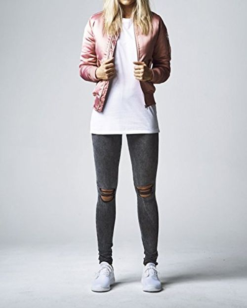 photo Wallpaper of Urban Classics-Urban Classics Damen Jacke Ladies Satin Bomber Jacket-Oldrose