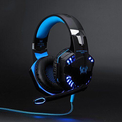 photo Wallpaper of ArkarTech-Headset Gaming PC ArkarTech Mikrofon Kopfhörer Gamer Ultra Leichtes Einstellbare Bass Stereo Lautstärkenkontrolle-Blau