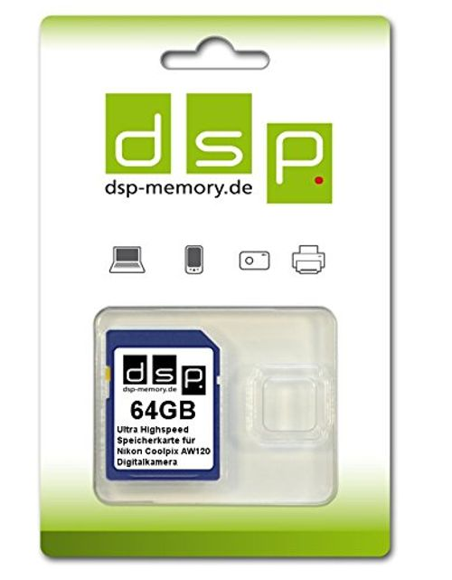 photo Wallpaper of DSP Memory-DSP Memory Z 4051557429055 64GB Ultra High Speed Speicherkarte Für Nikon COOLPIX AW120-