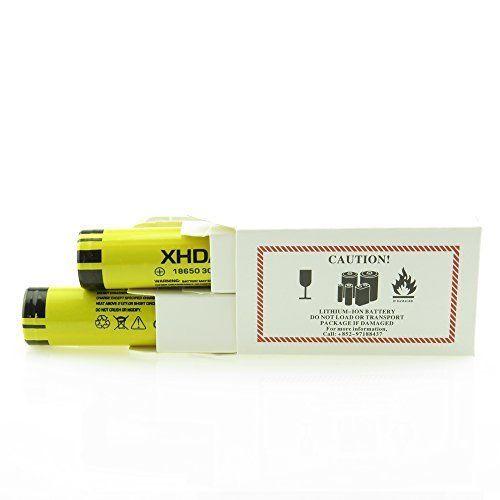 photo Wallpaper of XHDATA-XHDATA 18650 Battery 2 Pieces 3.7 V Rechargeable Batteries 3000mAh Flat Top (3000mah*2)-3000mah*2
