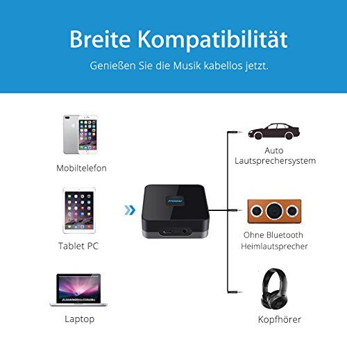 photo Wallpaper of Mpow-Mpow Bluetooth 4.1 Empfänger Audio Adapter Für Stereoanlage Heim HiFi Auto Lautsprecher-Black