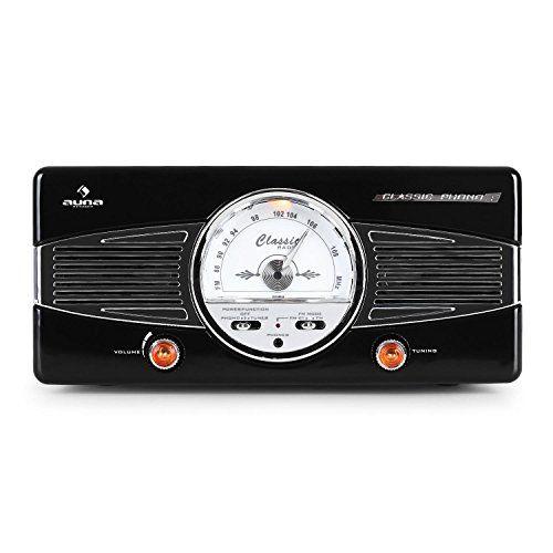 photo Wallpaper of auna-Auna • MG TT 82B • Retroanlage • Stereoanlage • Plattenspieler • Riemenantrieb •-schwarz