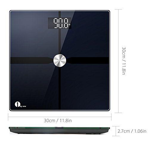 photo Wallpaper of 1byone-1byone Báscula De Grasa Corporal Bluetooth Con Aplicación IOS Y-Negro
